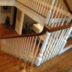 Wood Stairs Rails Iron Balusters Handrail