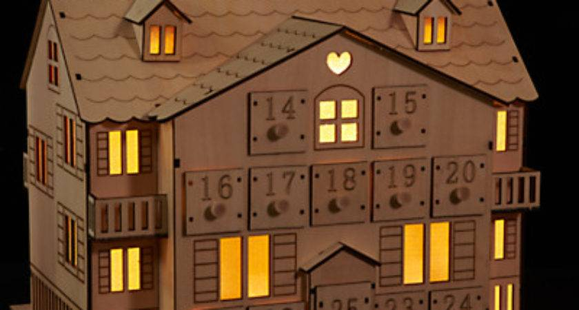Wooden Advent Calendar House Bmb