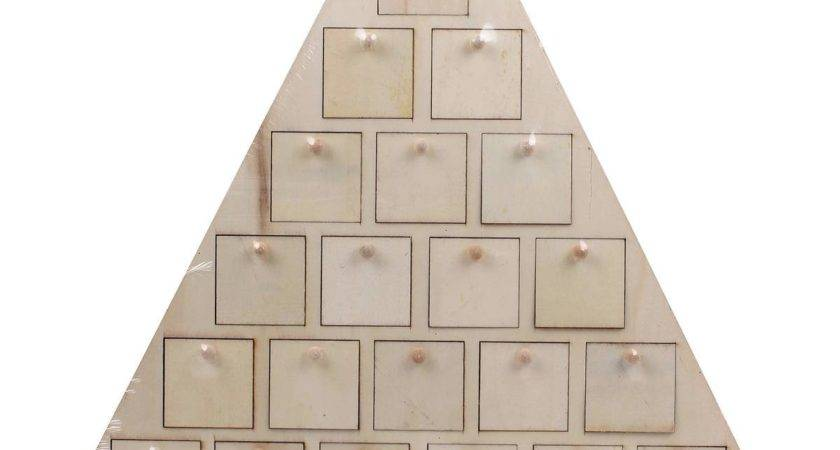 Wooden Christmas Tree Advent Calendar Lovely Blank