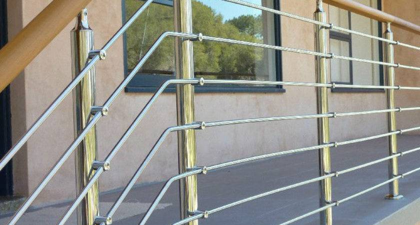 Wooden Handrail Stainless Steel Terrace Railing Designs