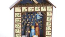 Wooden Nativity Advent Calendar Template