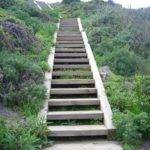 Wooden Outdoor Stairs Landscaping Steps Slope