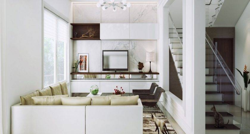 Wooden Rooms Designs White Contemporary Living Room