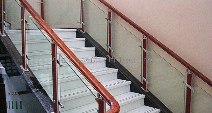 Wooden Staircase Glass Railing Best