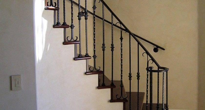 Wrought Iron Stair Railing Handrails