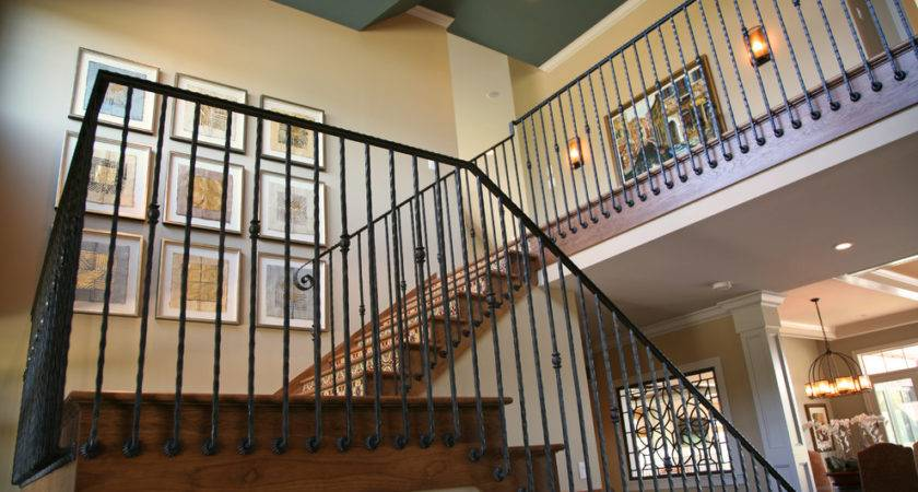 Wrought Iron Stair Railings Creating Awesome Looking
