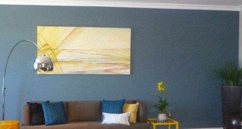 Yellow Blue Brown Living Rooms Modern House