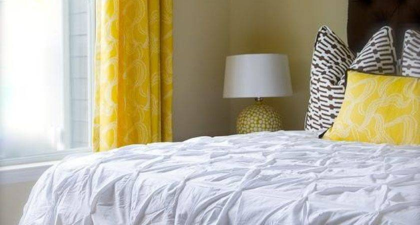 Yellow Brown Bedroom Contemporary Olive