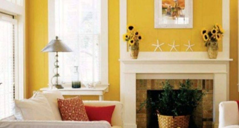 Yellow Color Paint Living Room