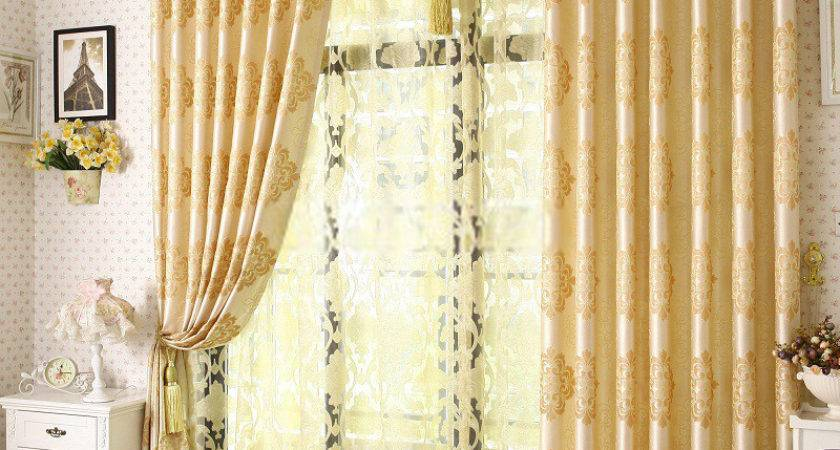 Yellow Curtains Bedroom Home Design
