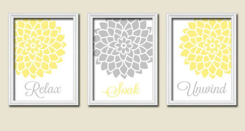 Yellow Gray Wall Decor Ideas Homes Decor