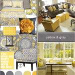 Yellow Gray Bedroom Bathroom Decorating Ideas Curtains