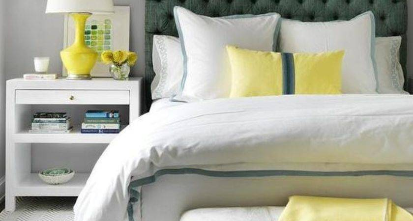 Yellow Green Bedrooms Contemporary Bedroom