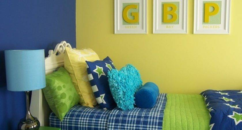 Yellow Green Blue Girl Bedroom Traditional