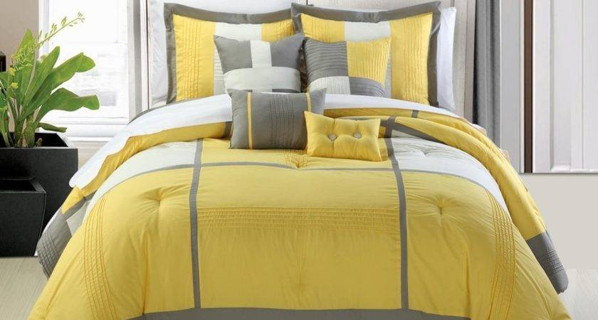 Yellow Grey Bedding Fel