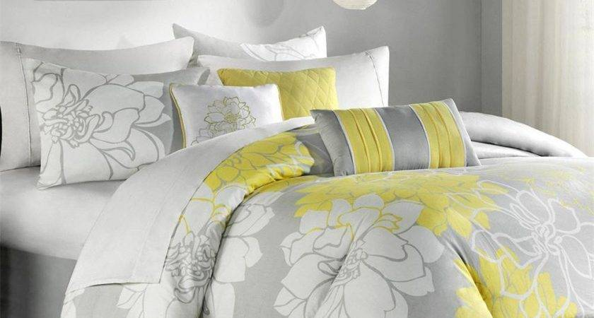 Yellow Grey Comforter Sets Just Home