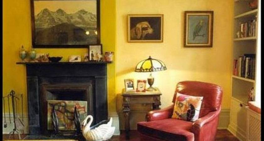 Yellow Living Room Two Tone Paint Nickey Kehoe