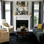 Yellow Navy Grey Living Room Modern House