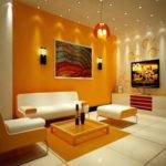 Yellow Orange Living Room Home Decor