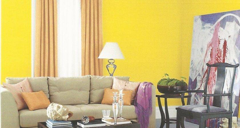 Yellow Painted Rooms Home Design