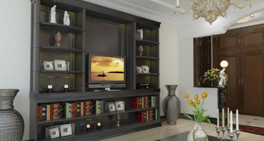 Your Dream Living Room Wall Units Interior Decoration